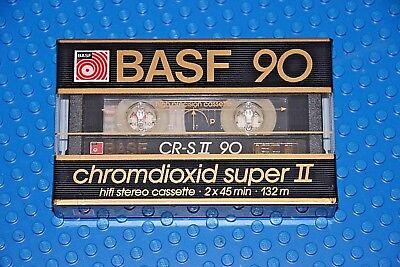 BASF  CHROMDIOXID SUPER II      90   BLANK CASSETTE TAPE 1 SEALED