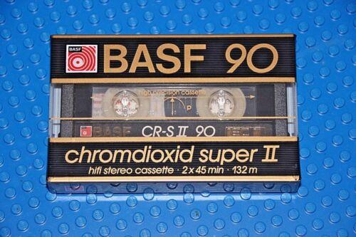 1 BASF  CHROMDIOXID SUPER II      90   BLANK CASSETTE TAPE SEALED