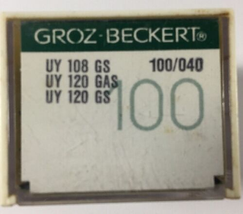 100 GROZBECKERT INDUSTRIAL SEWING MACHINE NEEDLES 108GS SIZE 100040
