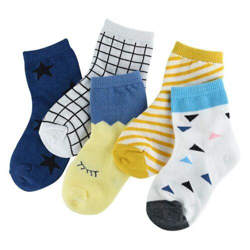 5Pair//lot Soft Cotton Kids Socks Baby Mesh Breathable Cartoon Boys Girls Sock