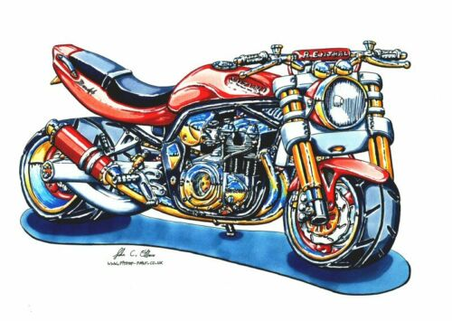 Rojo Suzuki Bandit cuadro de punto de cruz Free UK Post BN