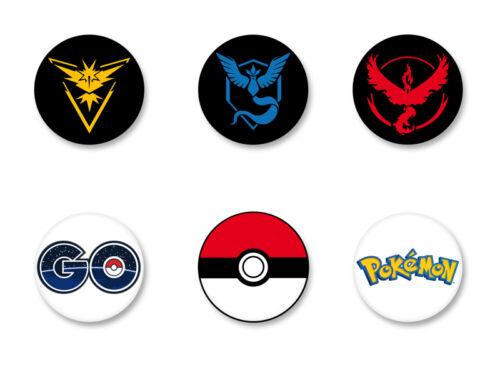 Lot Pack Badge Button Ø25mm Pokemon GO Team Logo