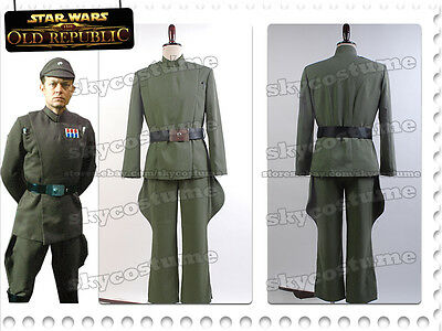Star Wars Imperial Officer Naval/Senior Cosplay Olive-Green Uniform Suit Costume