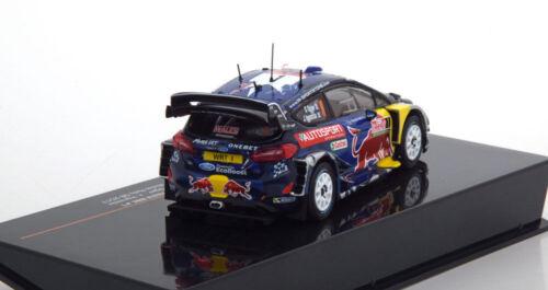 IXO 1//43 MODELLINO FORD FIESTA M-SPORT WRC WINNER RALLY WALES 2017 OGIER RAM655