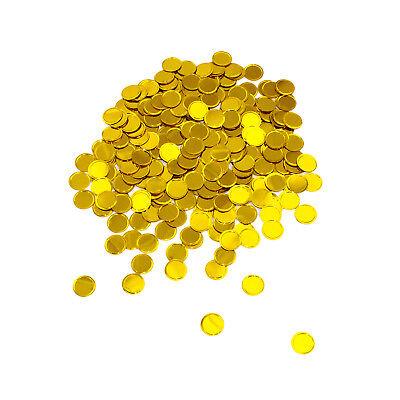 Konfetti Gold rund Spiegeleffekt Tisch Deko für Hochzeit Geburtstag Jubiläum