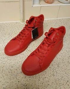 Zara Unisex New Red High Tops Size UK 8