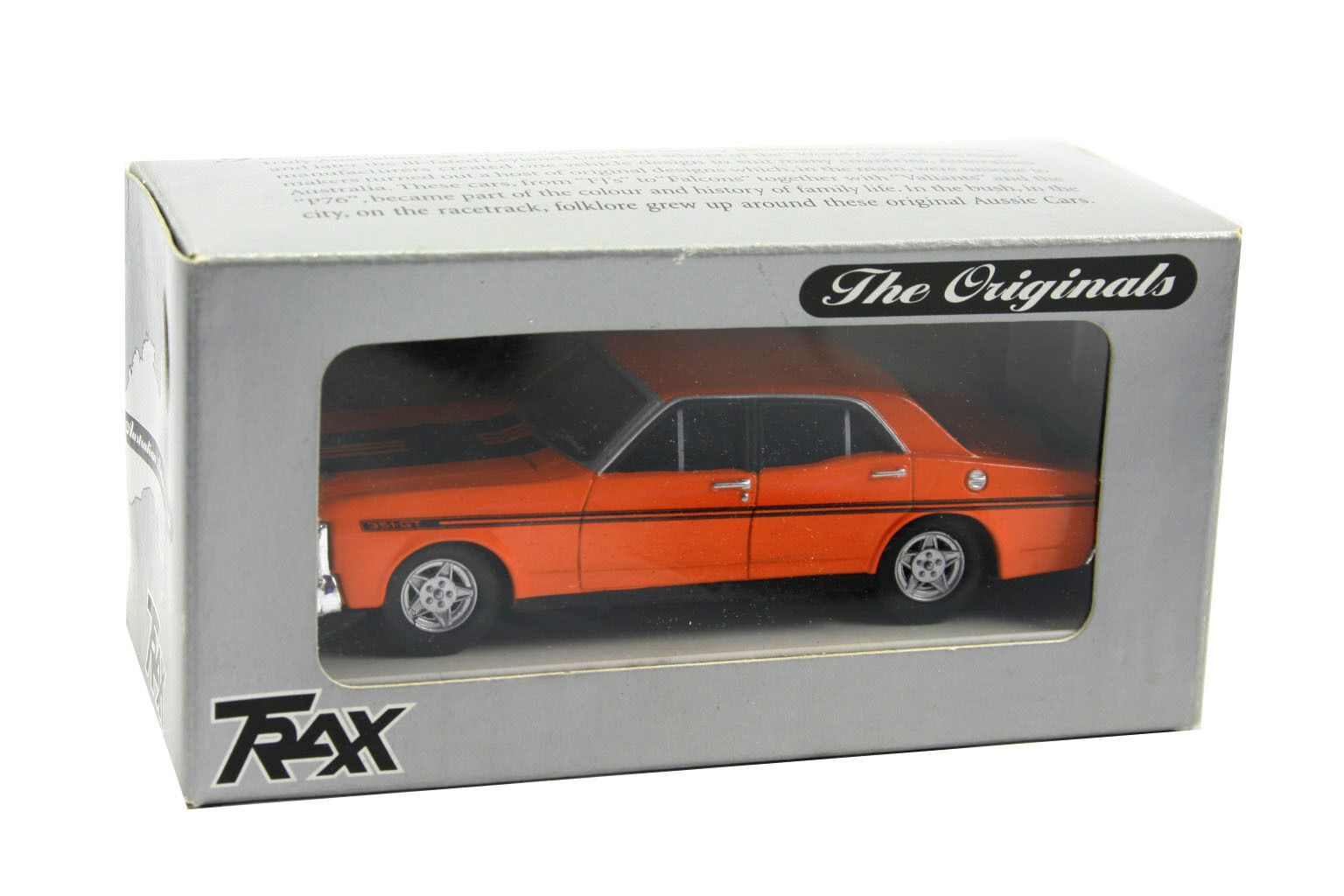 Trax 4D Orange Ford XY Falcon GTHO 1 43 Scale Phase 4 - NIB