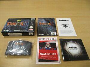 N64 Nintendo 64 juego-Turok 2 Seeds of Evil-Embalaje original-pal-Top-rar