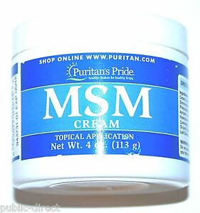 Details about MSM Cream 4oz Joint Pain Scar Tissue Stretch Marks Wrinkles  Anti-Aging Collagen