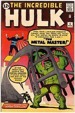 The Incredible Hulk v1 6 Marvel Comics USA 1963 Lee Ditko Metal Master VF- (7.5)
