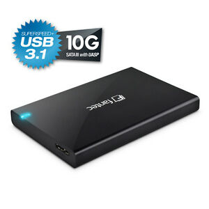 500GB-FANTEC-ALU-25B31-schwarz-ext-USB-3-1-Festplatte