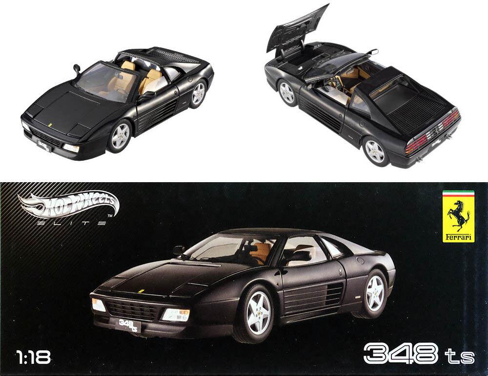 1989 ferrari 348 ts nero en 1 18 Hot Wheels elite x5481