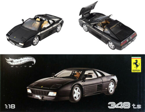 1989 Ferrari 348 TS schwarz in 1:18 Hot Wheels Elite X5481