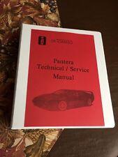 DeTomaso Pantera (Factory) Workshop Manual 1973 Service Instruction Technical