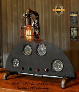 Image Is Loading Steampunk Machine Age Lamps Aviation Instrument Control Panel