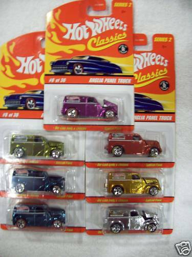 2006 Hot Wheels Classics Series 2 Anglia Panel Van in all 7 available colors