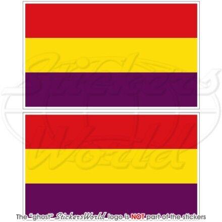 Spain 2e République espagnole zivil fahne 100mm Vinyle Autocollant aufkleber x2