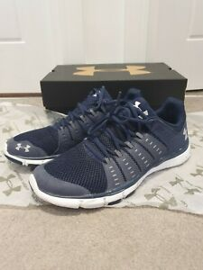 Under-Armour-Engage-2-Running-Trainers-UA-Micro-Size-9-5-Blue-Shoes