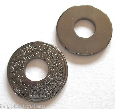 2 Strap Lock Security Lock Gurtpin Ersatzringe schwarz aztec style