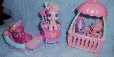 "My Little Pony 2008 Baby Pony Lot w/Furniture  Must "" C"