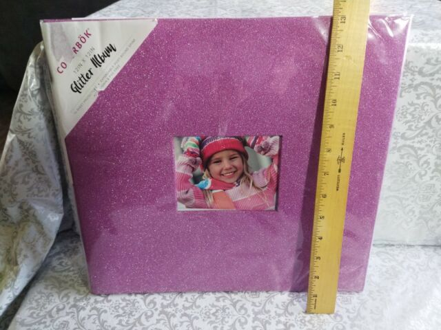 Colorbok Glitter Post Bound Album Pink 12 by 12