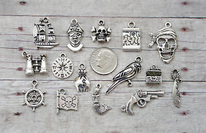 14pc or 5pc Medieval Knight Charm Set Lot Collection//Sword,Dragon,Castle,Shield