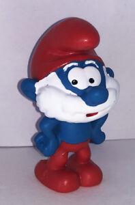 NEW-Papa-Smurf-Figurine-20814-Plastic-Miniature-Figure-2019-SMURFS-SET