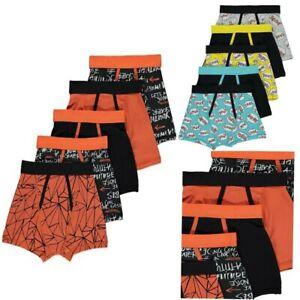 Boys kids Graffiti Slogan Print Trunks 5 Pack Pants children underwear 5 Pack