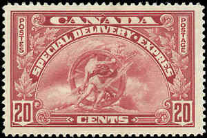Canada-Mint-H-1935-F-Scott-E6-20c-Special-Delivery-Stamp