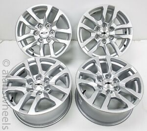 New-Takeoff-2019-Chevy-Suburban-Tahoe-18-silver-Factory-OEM-Wheels-Rims