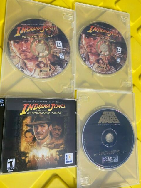 Indiana Jones And The Emperors Tomb + The Infernal Machine (discs only) PC Games