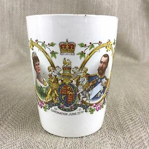 Antique-Royal-Commemorative-Cup-King-George-V-Coronation-Isle-of-Wight-1911