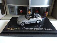 RICKO  CHRYSLER CROSSFIRE ROADSTER  SILVER  CONVERTIBLE    1/87  HO CAR PLASTIC