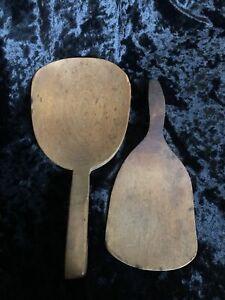 Vintage Wooden Butter Paddles
