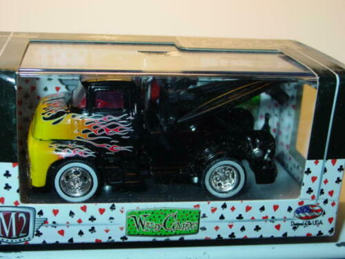 M2 MACHINES 1956 56 FORD COE CAB OVER ENGINE TOW TRUCK Black w//FLAMES MIP