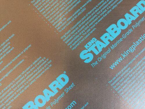 "BLACK KING STARBOARD 3//4/"" X 24/"" X 48/"" POLYMER HDPE SEA PLASTIC SHEET ^"