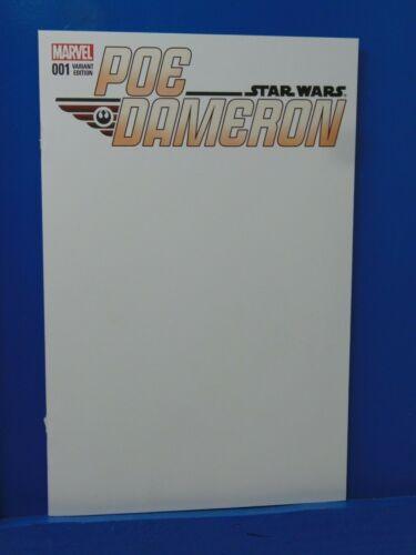 Star Wars Poe Dameron #1 Blank Variant Edition  Marvel Comics CB18034