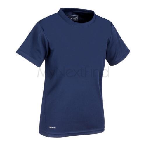 Spiro Sports Activewear Quick-Dry Short Sleeve Junior T-Shirt