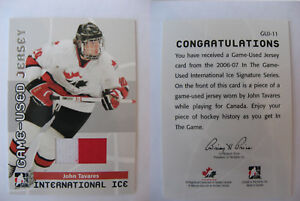 2006-07-ITG-International-Ice-John-Tavares-game-jersey-RC-team-Canada-rookie