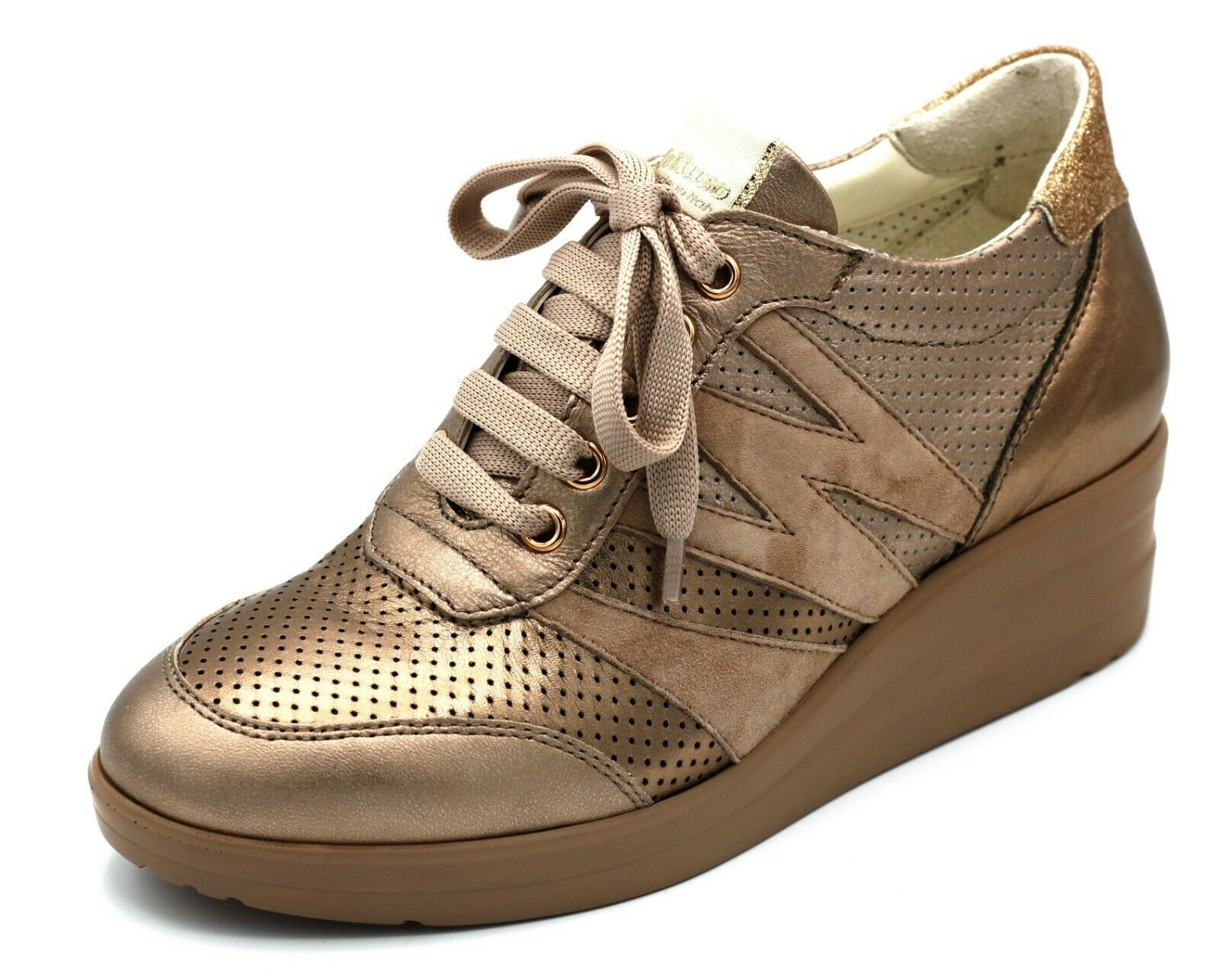 R20136 MELLUSO Turnchaussures IN PELLE CouleurE CANNELLA BRONZO  MODA COMODA n. 39