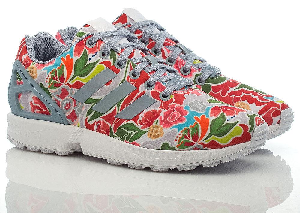 Adidas Originals ZX Flux - Chaussures de sport à imprimé floral Superstar pour femme US 7 7.5