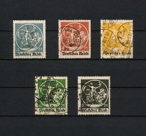 """(YYAA 420) GERMANY 1920 TYPE """"D"""" - 20M USED Mich 134 - 138 Deutsches Reich"""