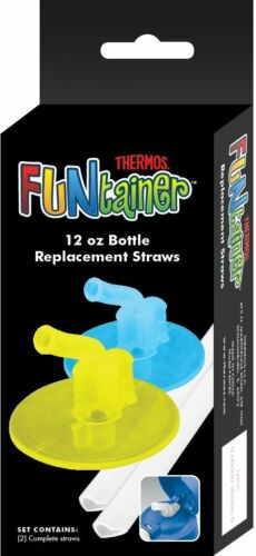 Lime//Blue Thermos Replacement Straws for 12 Ounce Funtainer Bottle