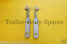 FREE 1st Class Post - 2 x Heavy Duty Rope Tie Down Hooks Trailers Pick up Lorry