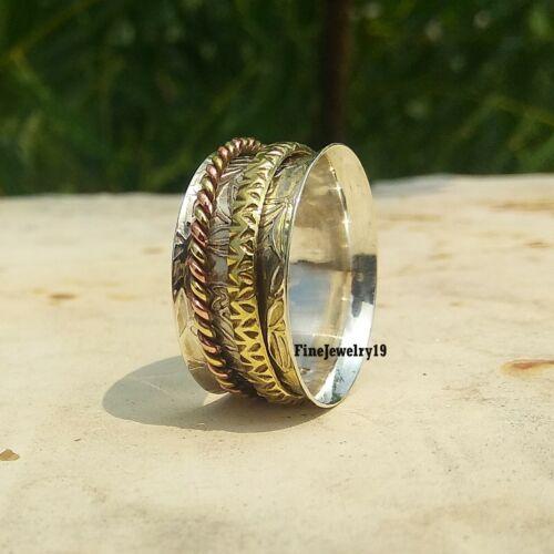 925 Sterling Silver Spinner Ring Meditation Handmade Ring Designer Jewelry A183
