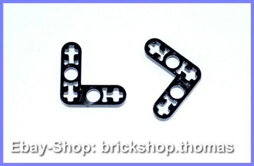 NEU 32056-3 x 3L Black Lego 2 x Technic Hebel Liftarm schwarz NEW
