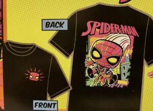 Funko Pop Marvel Spiderman Black Light T Shirt Only  Large