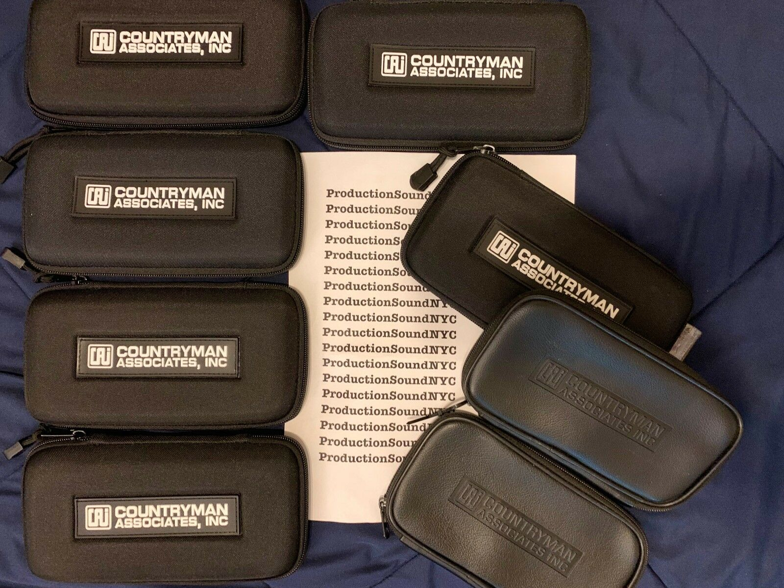 8x Original Countryman B6 B3 Lavalier Microphone CASES ONLY  8 total