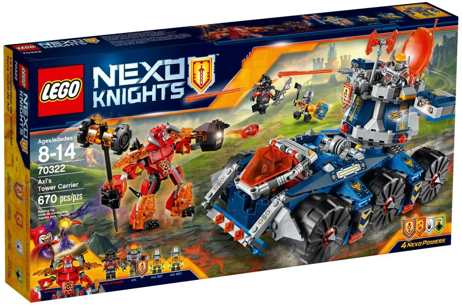 Lego Nexo Knights Axl's Tower Carrier Playset - 70322-à la retraite
