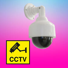 Dummy Speed Fake Dome Camera Waterproof Flashing LED Light Surveillance Security